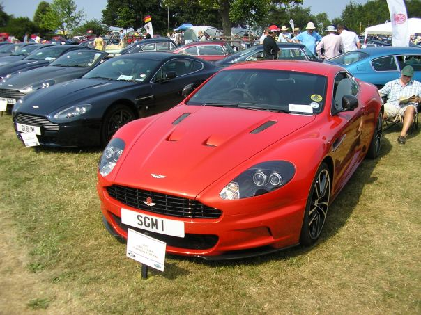 First entrant for the Aston Martin Owners Club stand
